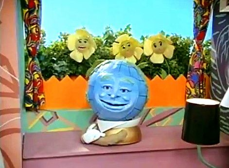 Globey and the Flowers from Pee-Wee's Playhouse
