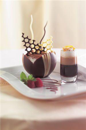 It isn't Valentine's Day without chocolate. Don't you want this elegant Tiramisu Ala Portofino from Portofino Restaurant? #dessert