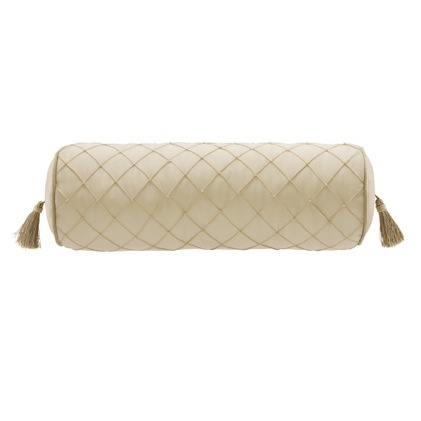 vivienne bolster pillow the vivienne bolster pillow is enhanced by delicate pintucking and pearl details