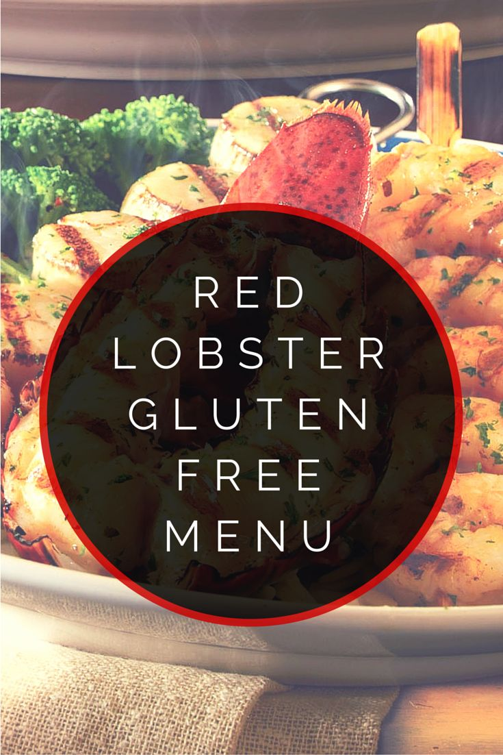 Red Lobster Gluten Free Menu #glutenfree