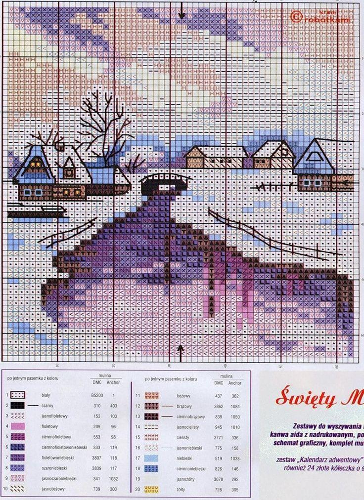 pinterest cross stitch winter scenes | murzilka1019 — «84e854a64007.jpg» на Яндекс.Фотках