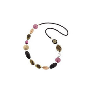 pink and brown tone necklace