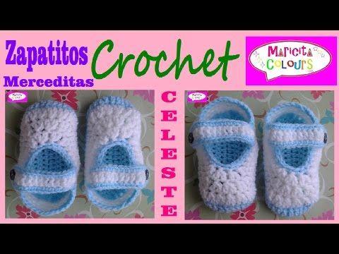 Mejores 673 imágenes de zapatitos de crochet en Pinterest | Zapatos ...