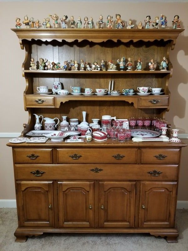 Maple Open Dining Room Hutch By Beals Of Portland Me Featuring Crown Molding