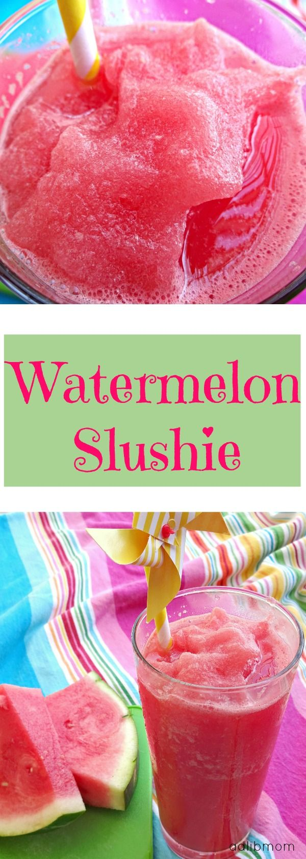 Watermelon Slushie is cool and refreshing. It's a treat that kids and adults will want more of. Watermelon also has many health benefits.