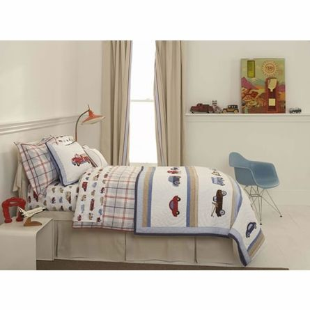 cars and trucks twin sheet set by whistle u0026 wink