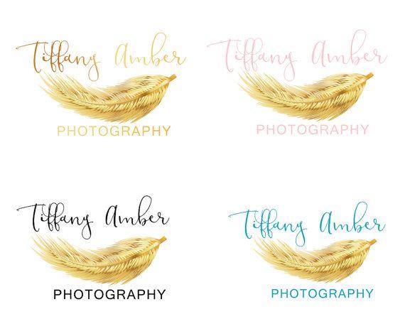 Feather Gold Branding Kit Custom Logo Design by LoveArtsStudio