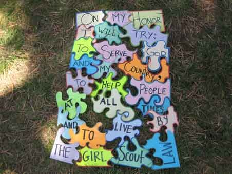 Want to make this for our girls to practice the Girl Scout Promise