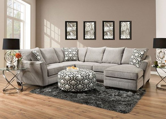 Dante Light Gray 2 Pc Sectional W Sofa Chaise The Roomplace Sectional Sofa With Chaise Living Room Sectional Sectional Sofa