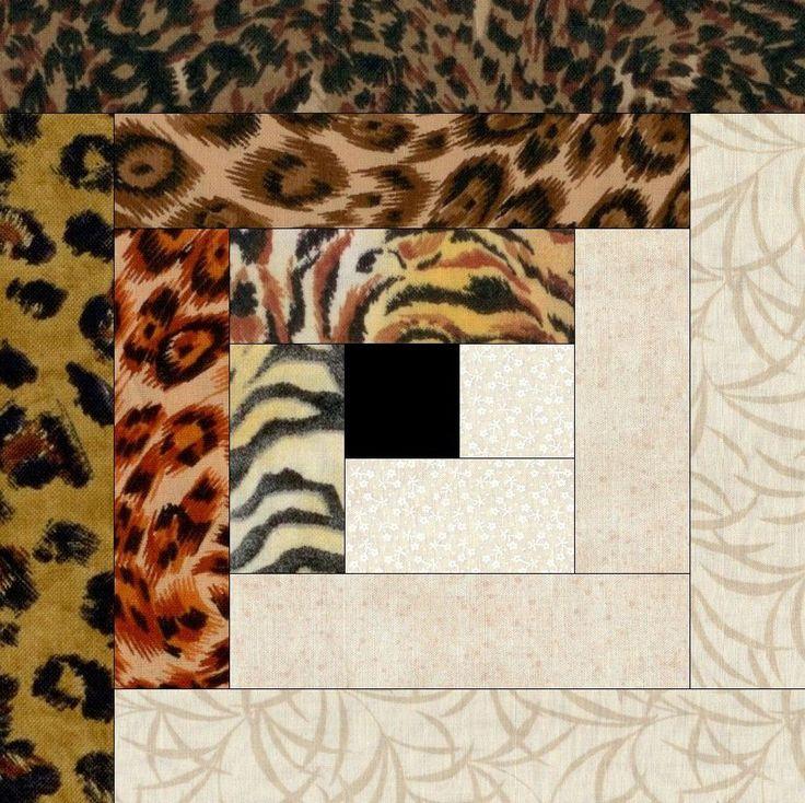Safari Cats Skins Pre-Cut Quilt Blocks Kit