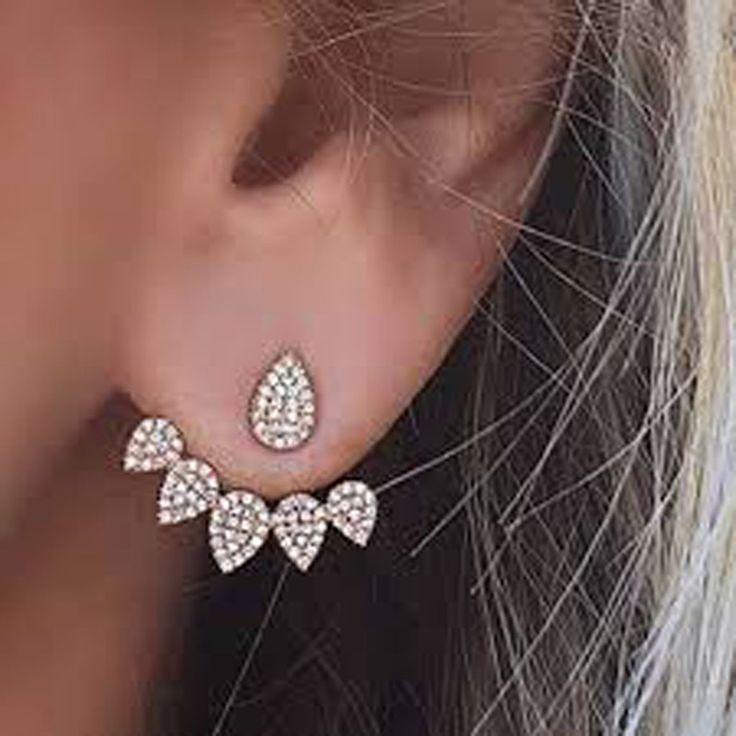 Product Information Product Type: Pair of Earring Jackets Gauge Size: Standard Ear Lobe - 20 Gauge (1.2mm) Womens Earrings Earring Jacket Jackets in Gold Silve
