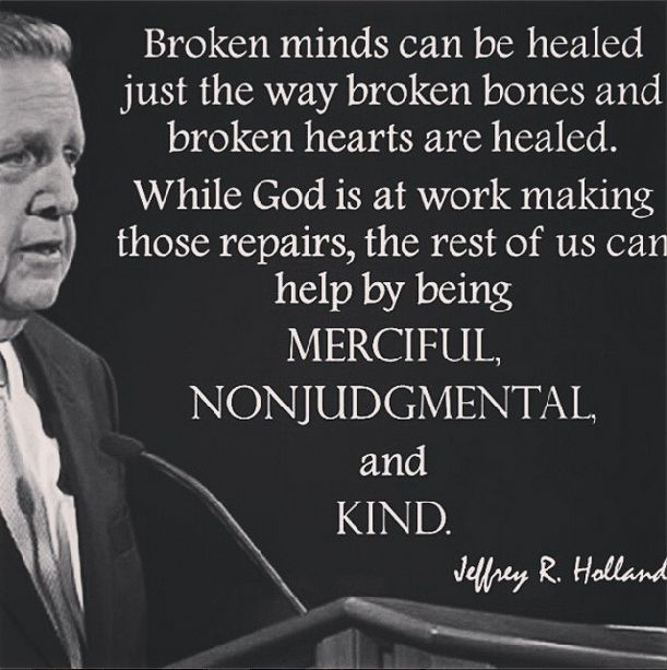 no one is wired perfectly which is a good thing to remember when they behave so badly. Kind. Merciful. Nonjudgmental.