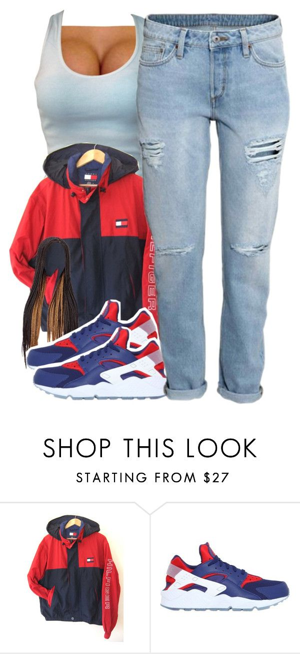 """"""""""" by chyna-campbell ❤ liked on Polyvore featuring NIKE, H&M, women's clothing, women, female, woman, misses and juniors"""
