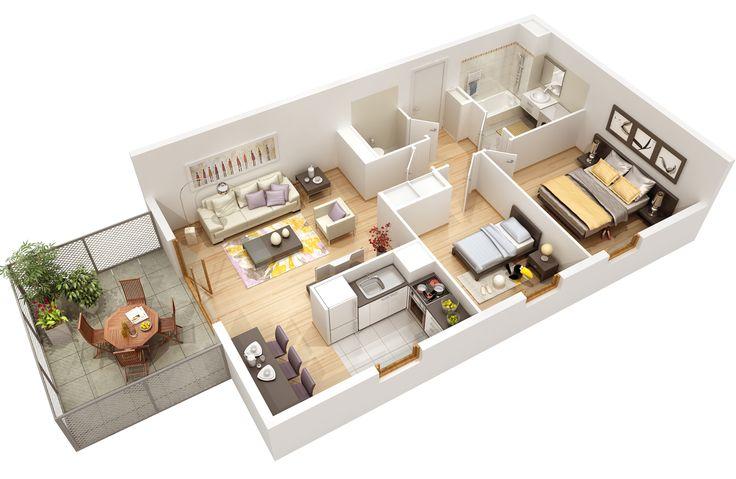 Vue 3d n 2 la colline dans l 39 coquartier l les portes for Appartement 3d gratuit