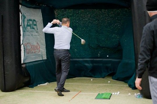 2014 Independence Day guests enjoy the Embassy's interactive activities such as Golf, Football and Baseball #JUly4CBR