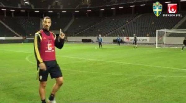 Atomowy gol rosłego napastnika reprezentacji Szwecji • Zlatan Ibrahimovic pokazał klasę podczas treningu • Wejdź i zobacz więcej >>