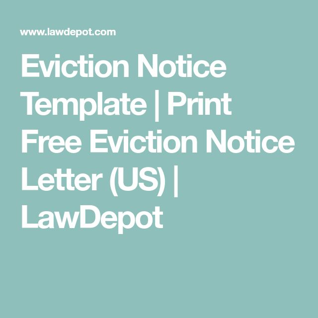 Eviction Forms Free  Free Printable Eviction Notice Form Sample