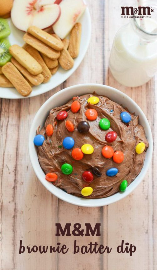 Grab your family's favorite fruits and cookies and dig into this scrumptious M&M Brownie Batter Dip. When you're looking for a quick and easy sweet snack idea that doubles as a kid-friendly dessert that's perfect for special celebrations, this recipe is sure to do the trick—plus, you can find everything you need at your local Kroger!