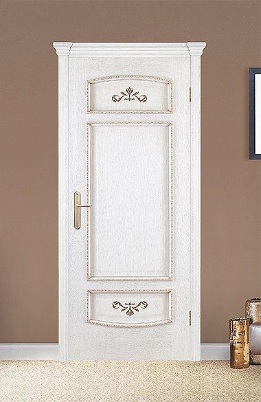 Межкомнатная дверь «Верона». Отделка «белая патина золото» #дверирулес #двери #межкомнатные #дизайн #русский_лес