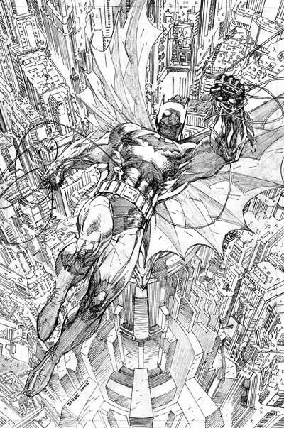 Sketch de la Portada de Batman by Jim Lee