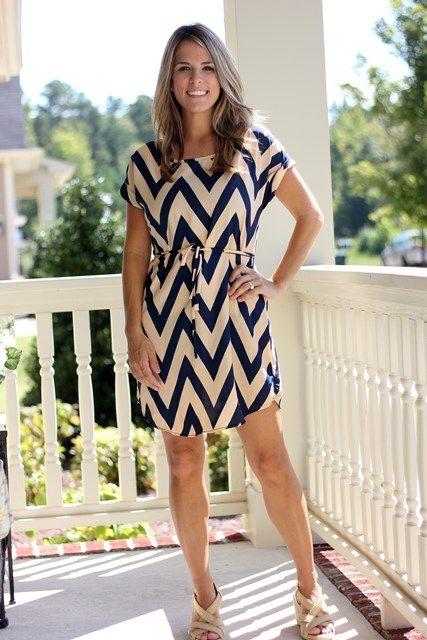 LOVE this chevron dress!