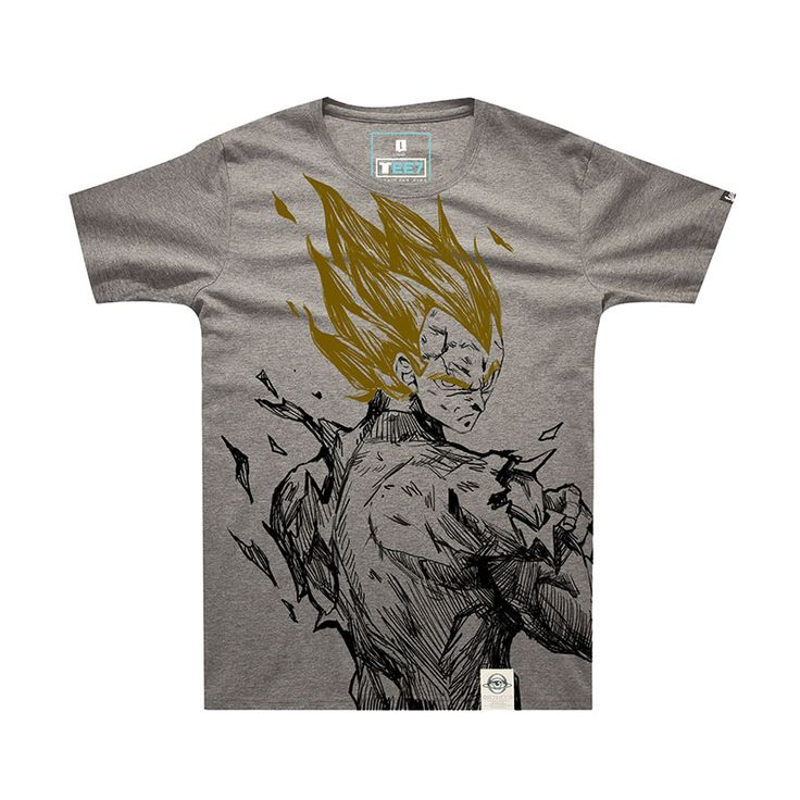 Dragon Ball Z Son Goku  T shirt DBZ Gray T-shirt for Boys Mens