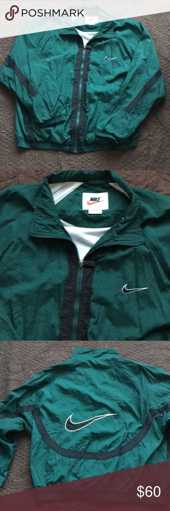 Vintage Nike jacket/windbreaker Rare! Very cool design going across the front and across the back. With big Nike check on back! I'm a fast shipper usually shipping the day after you purchase. Make me a great offer and I'll wrap it up for you. 🎁 Nike Jackets & Coats Windbreakers