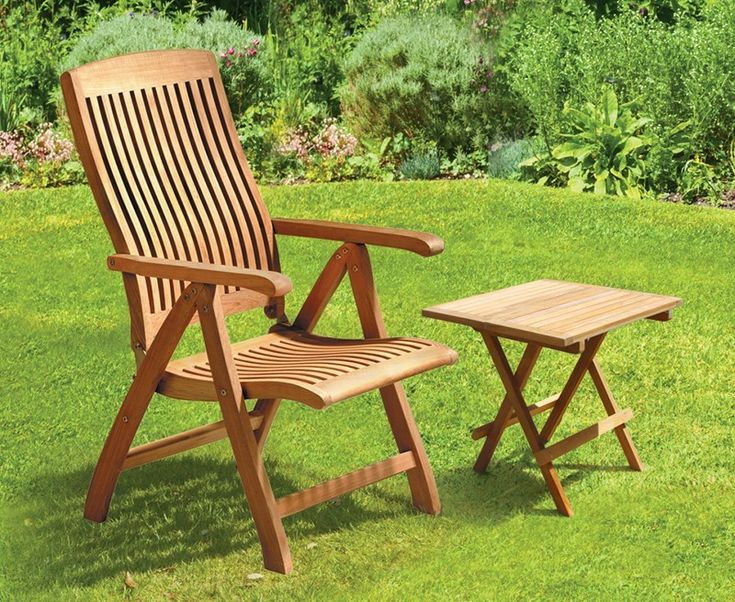 Bali Teak Garden Recliner Chair with FREE Picnic Table