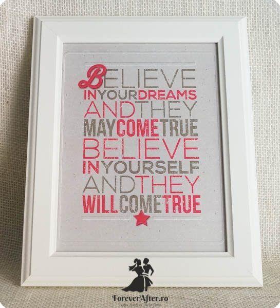 Rama cu mesaj Belive   Accesorii nunta - Mesaje   ForeverAfter.ro