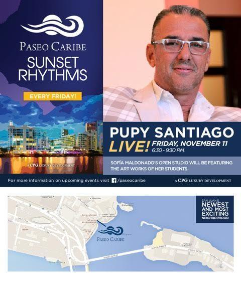 Sunset Rythms: Pupy Santiago Live #sondeaquipr #sunsetrythms #paseocaribe #puppysantiago #sanjuan
