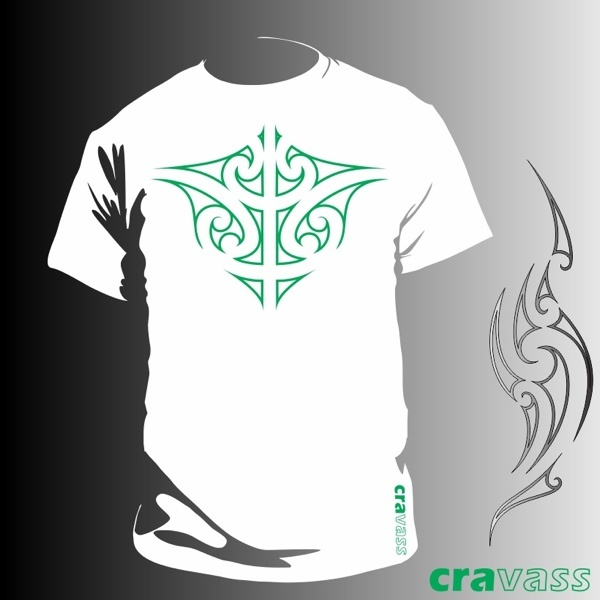 Maori Ta Moko design - center chest