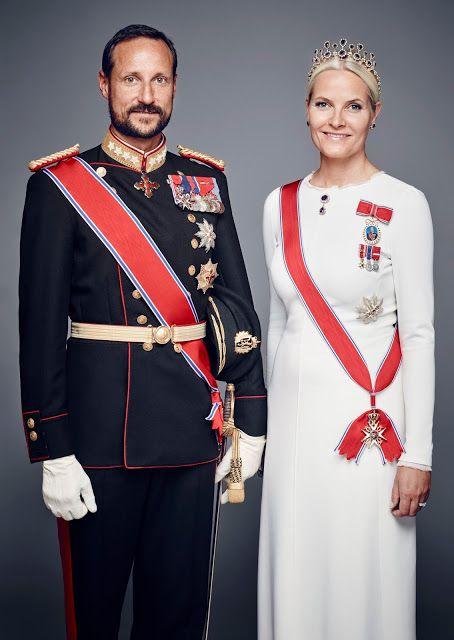 Princesse Mette-Marit Tjessem Høiby et le Prince Haakon de Norvège