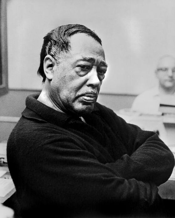Duke Ellington (1899-1974) - American composer, pianist and bandleader of jazz orchestras.  photo by Philippe Halsman, 1967