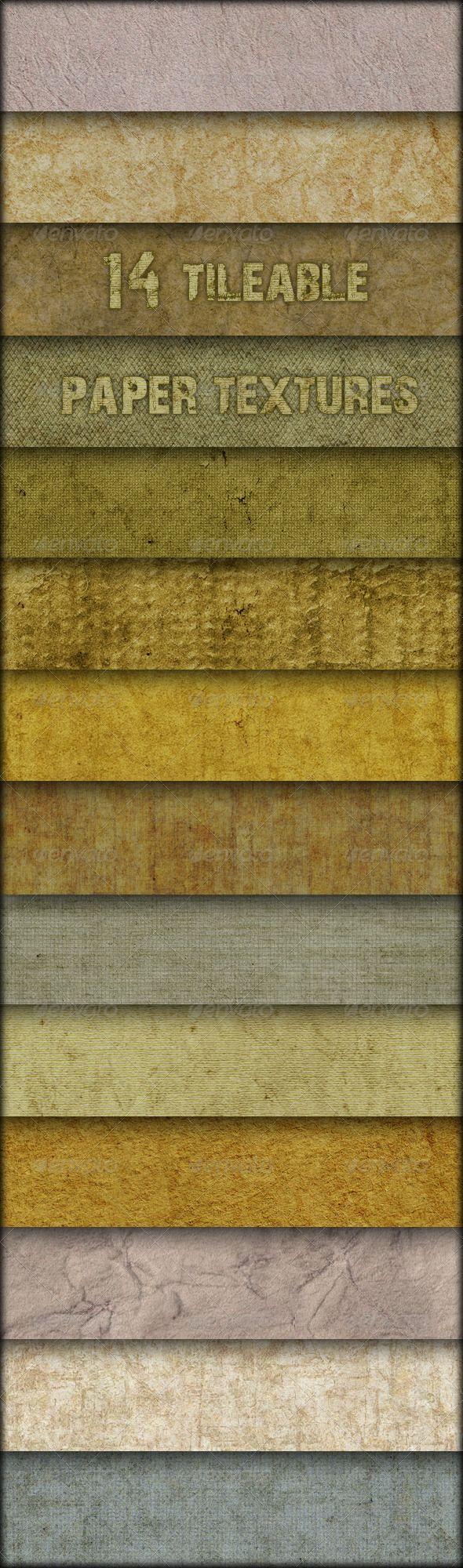 14 tileable paper textures