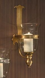 GU757 - Antique Brass Medieval Wall Sconce - Candle Holder