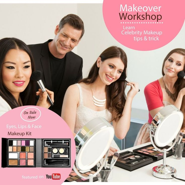 Makeover Workshop is a hands-on, interactive makeup course that teaches you  how to sculpt movie-star brows, create eyes that pop and define flawless  lips that allure. Learn how to go from a subtle, sophisticated day look to  a sultry, smoky evening look. Reveal your beauty with the right founda