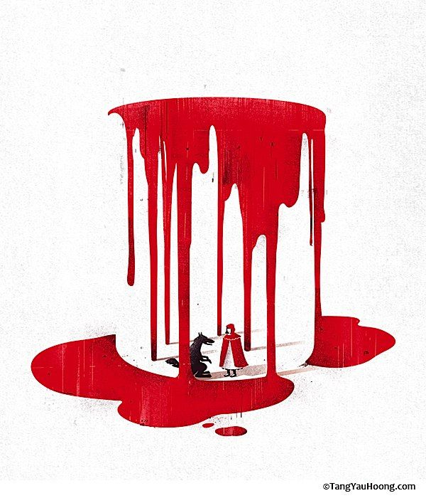 Negative Space Illustrations: One seen, it cannot be unseen.