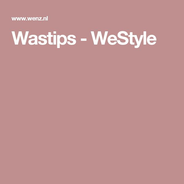 Wastips - WeStyle