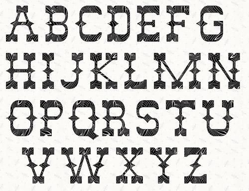Looking for your next project? You're going to love Alphabet Western  5 inch Stencil.  by designer Linleys Designs.