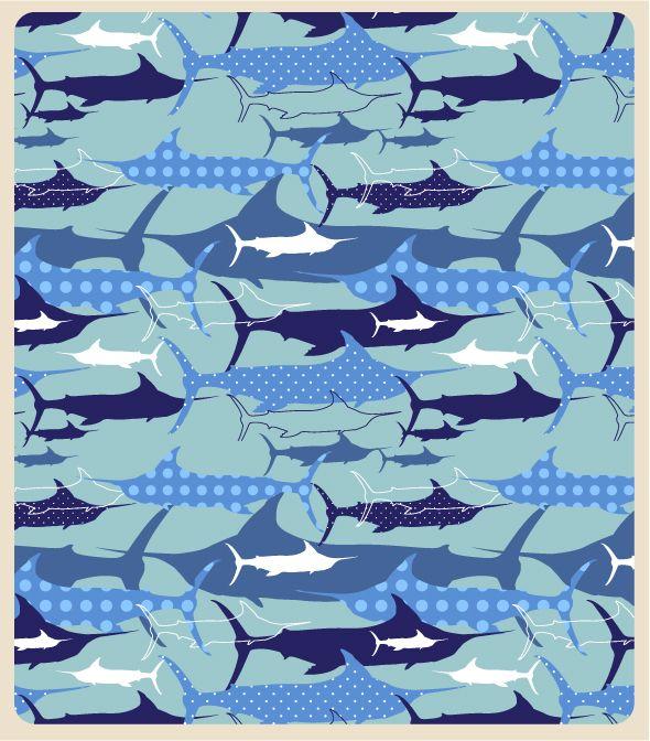 """Blue Marlin"" pattern by Whitney Catarella :)"