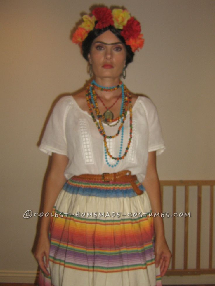 Easy Homemade Frida Kahlo Halloween Costume... This website is the Pinterest of costumes