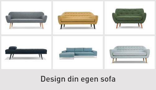 Design din egen sofa hos Sofakompagniet <3