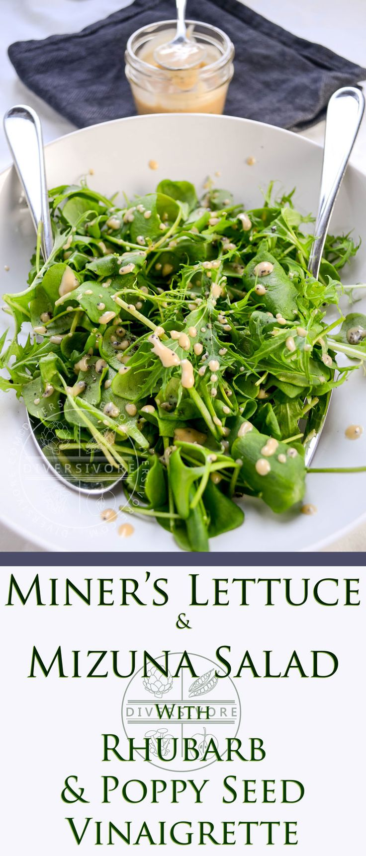 A spring salad featuring two very different but equally spectacular tender greens and an easy scratch-made dressing.