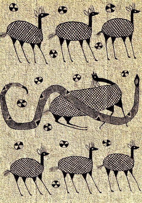 korhogo cloth. African Art from the Ivory Coast