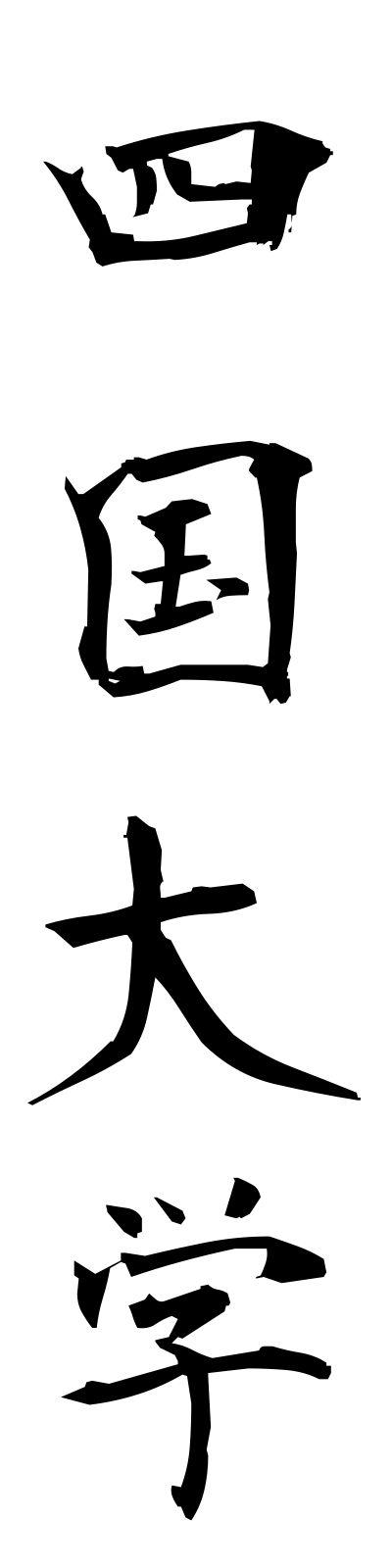 s20125 四国大学 しこくだいがく – 四字熟語