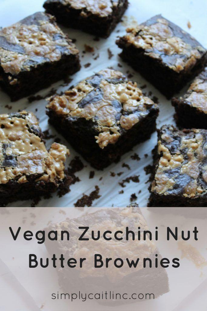 Vegan Zucchini Nut Butter Brownies http://simplycaitlinc.com/zucchini-nut-butter-brownies/