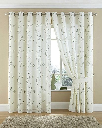 Forest Green Lined Voile Curtains from Net Curtains Direct - curtains direct