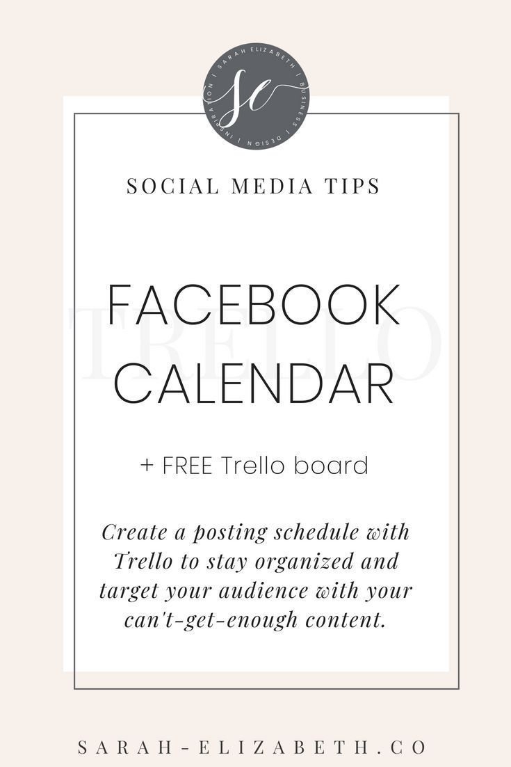 Creating a posting schedule for your Facebook business page