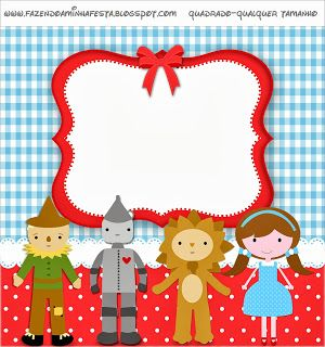 Wizard of Oz - Full Kit with frames for invitations, labels for goodies, souvenirs and pictures! | Making Our Party