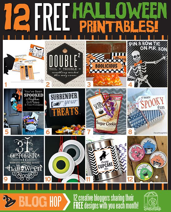 12 FREE Halloween Printables AND a printable halloween-themed date night!